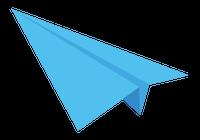 紙飛行機のイラスト①