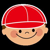 赤白帽子の男の子