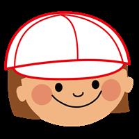 赤白帽子の女の子